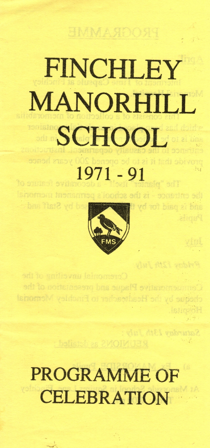 Finchley Manorside School Flyer