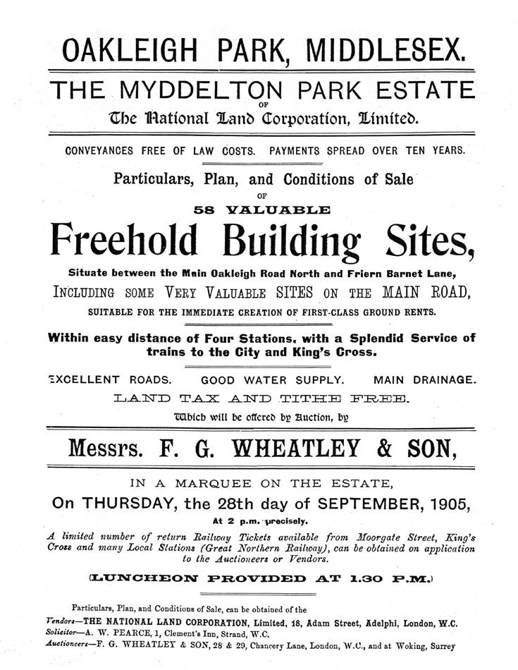 Myddelton Park, N20