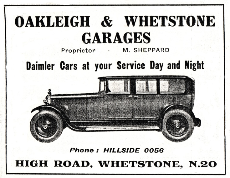 Oakleigh & Whetstone Garage