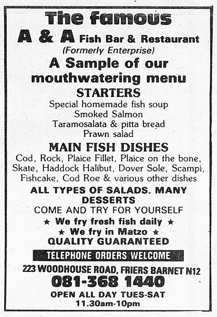 A & A Fish Bar