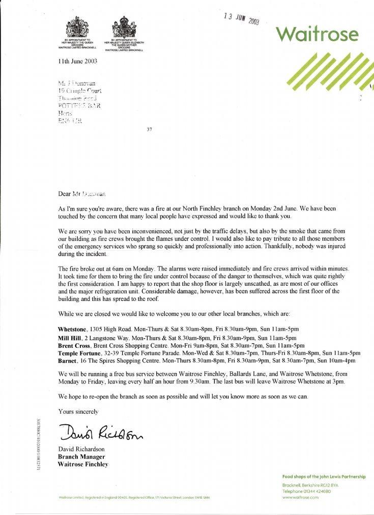 Letter (Waitrose)