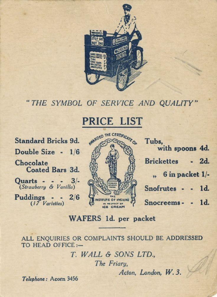 Brochure (Wall's)