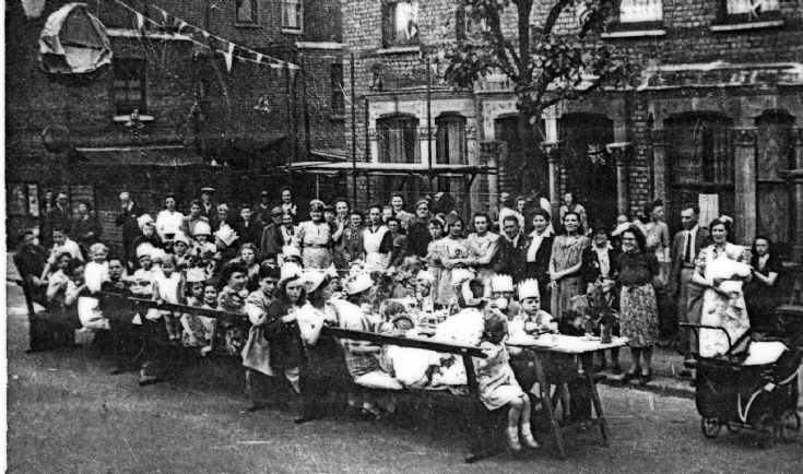 Garfield Road Street Party 1945 (2nd view)