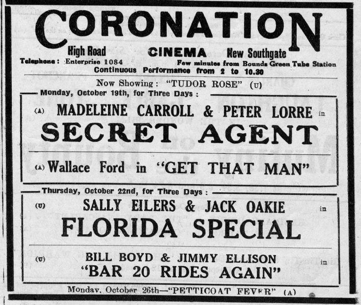 Coronation Cinema, New Southgate