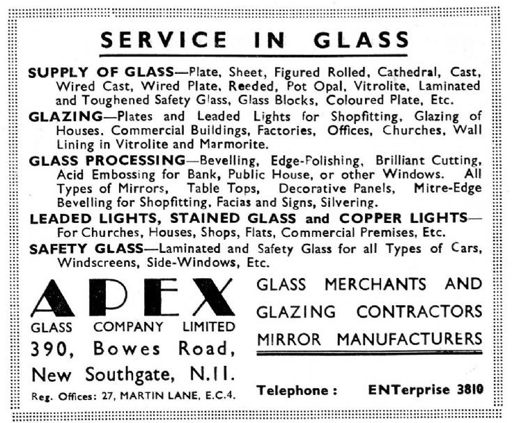 Apex Glass Co