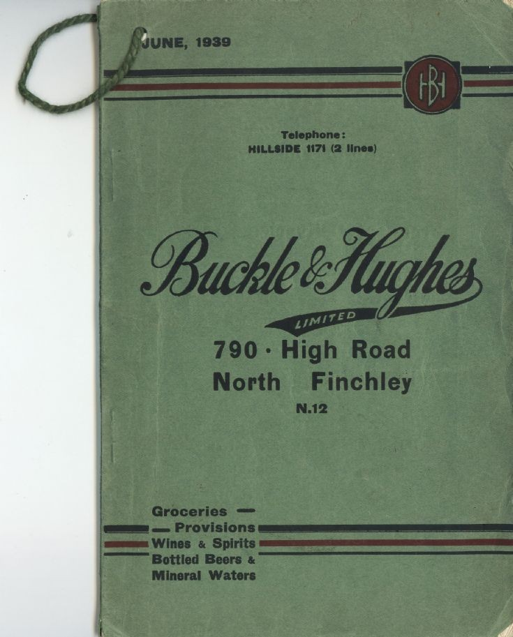 Catalogue (Buckle & Hughes)