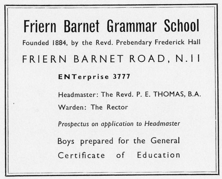Friern Barnet Grammar School