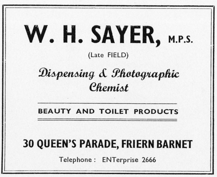 W H Sayer