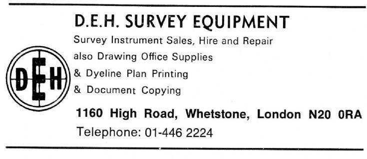D E H Survey Equipment