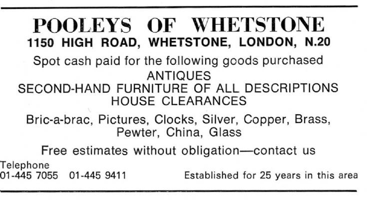 Pooley's of Whetstone