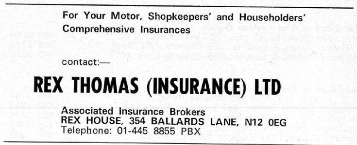 Rex Thomas (Insurance) Ltd