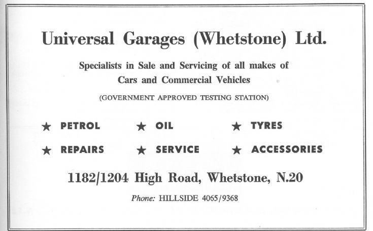 Universal Garages (Whetstone) Ltd