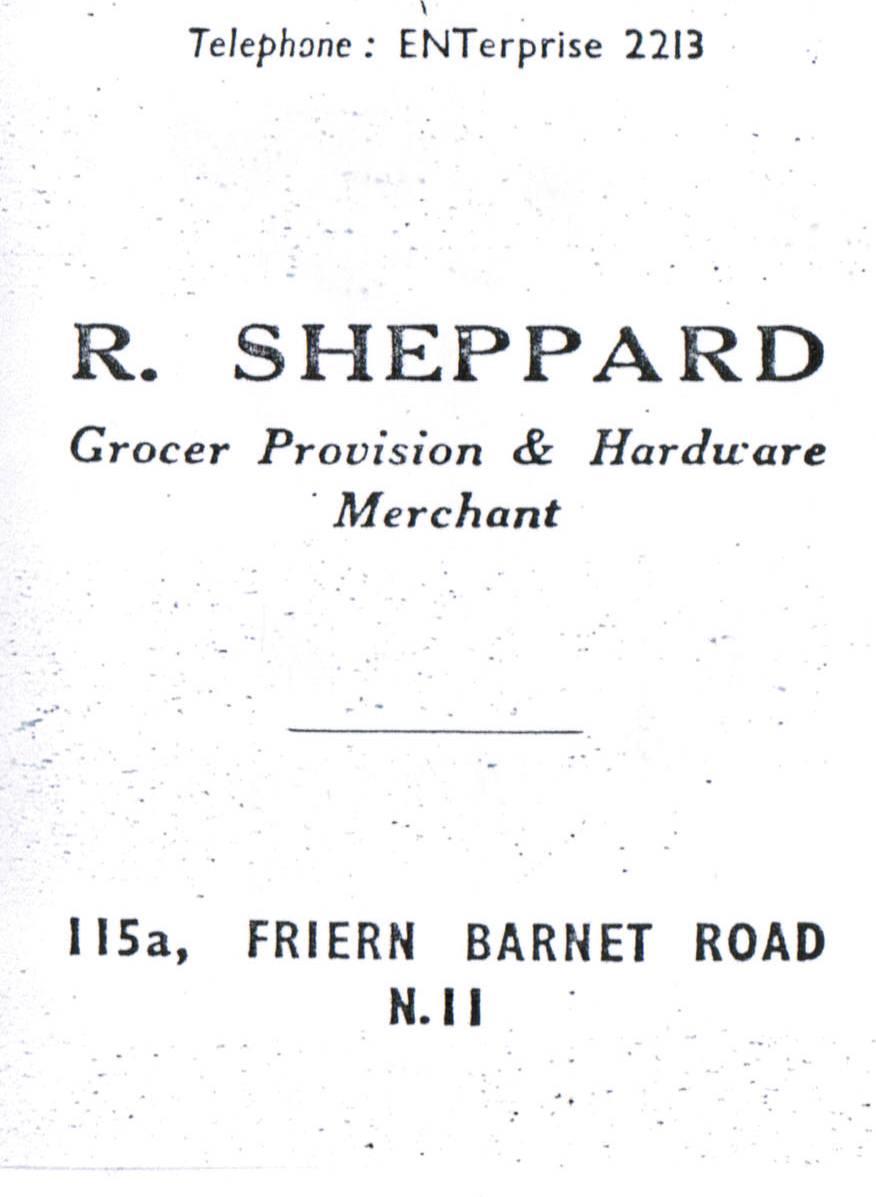 R Sheppard