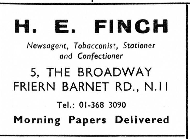 H E Finch