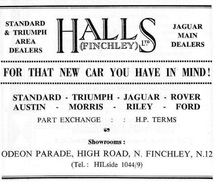 Halls Finchley Ltd