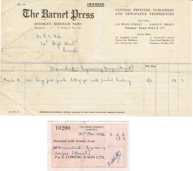 Invoice (Barnet Press)