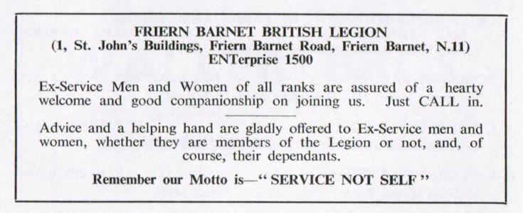 Friern Barnet British Legion