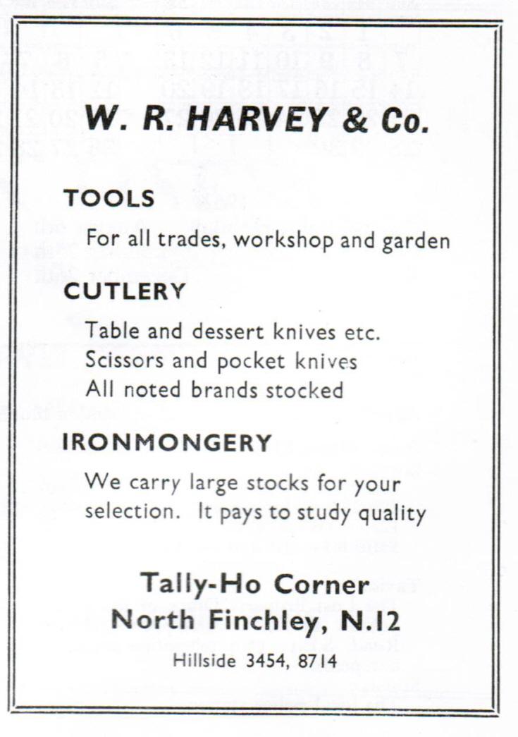 W R Harvey