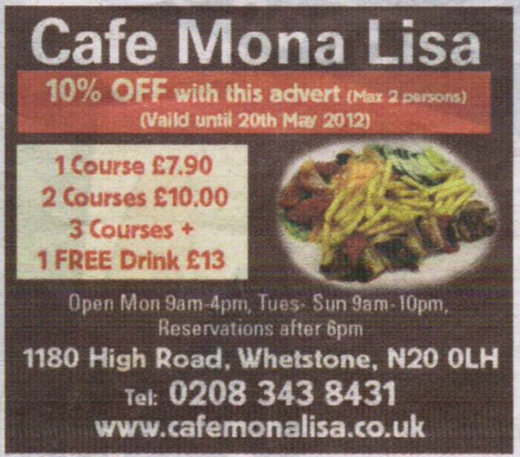 Cafe Mona Lisa