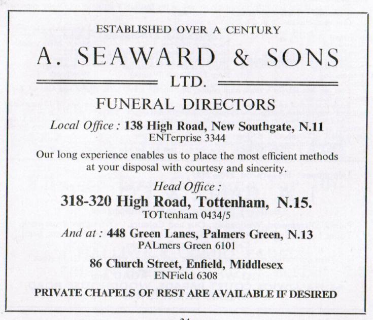 Seaward, A & Sons