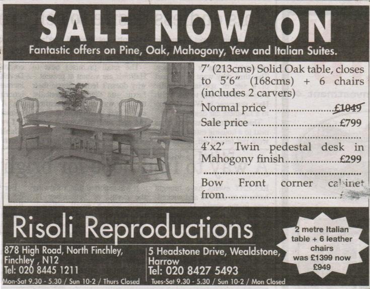 Risoli Reproductions