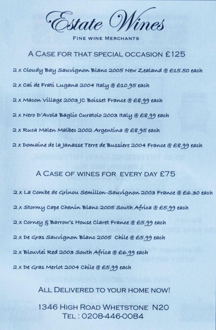 Estate Wines