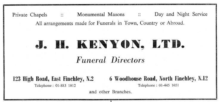 J H Kenyon