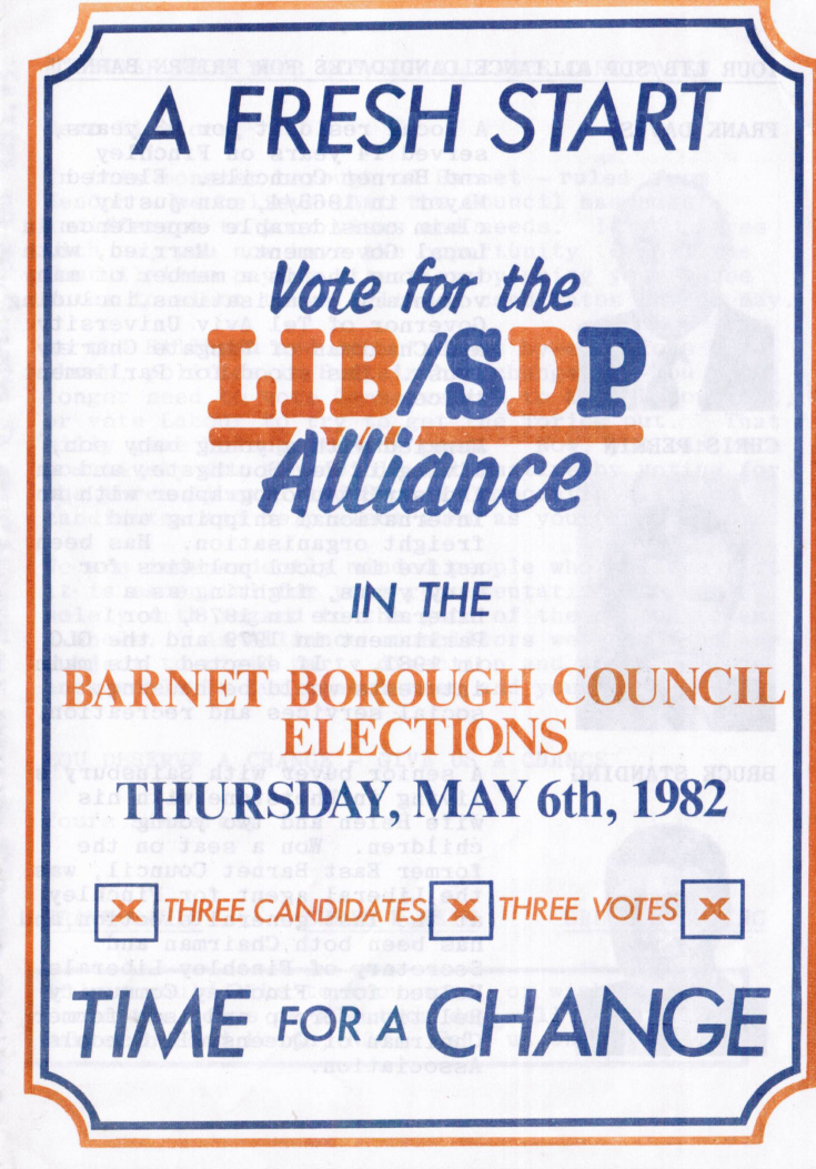 Election flyer (Liberal/SDP)