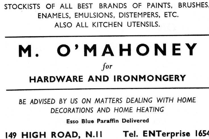M O'Mahoney