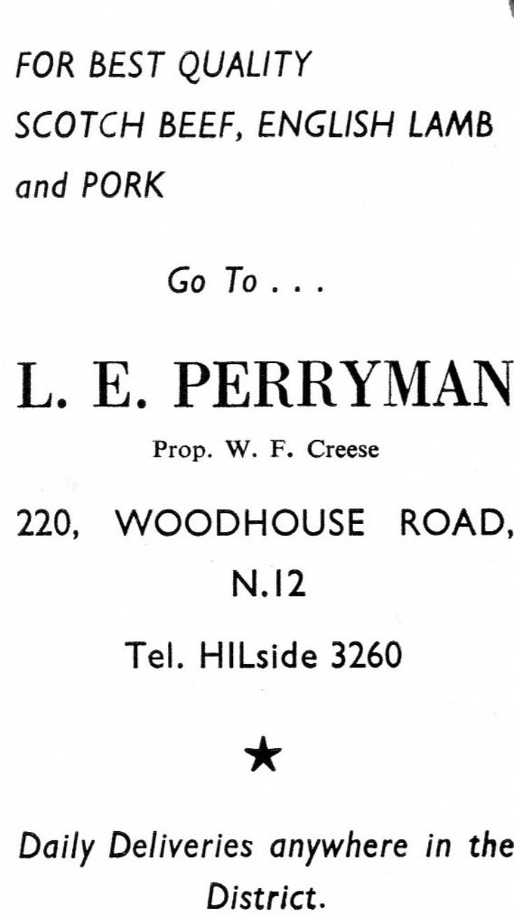 Perryman, L E