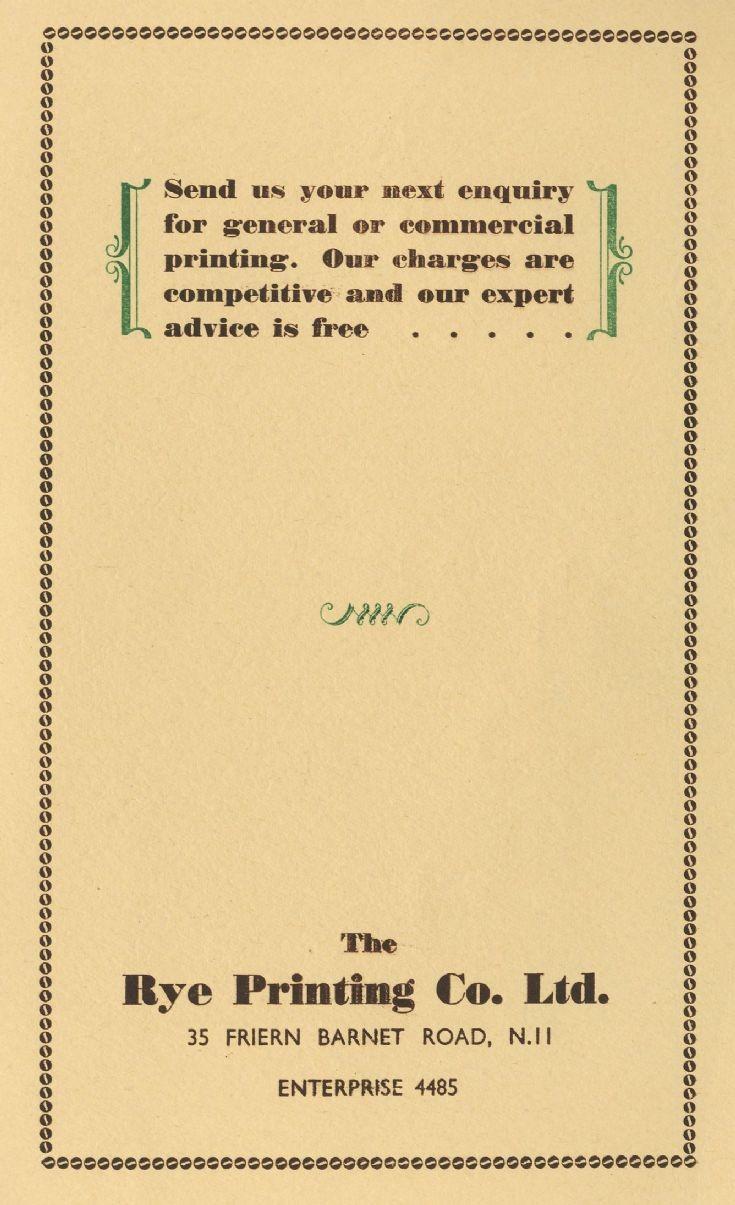 Rye Printing