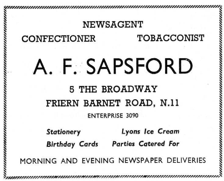 A F Sapsford