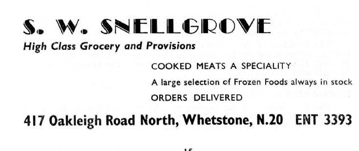S W Snellgrove