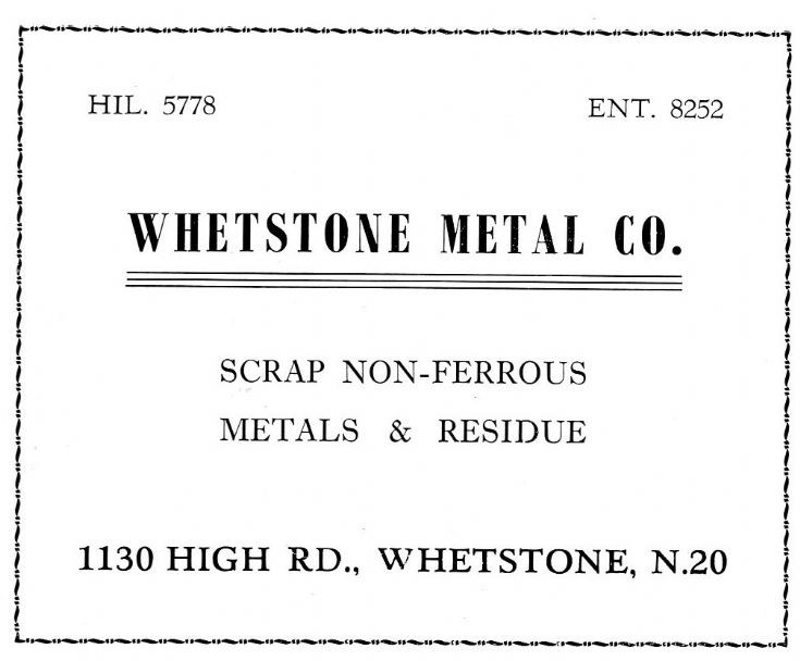 Whetstone Metal Co
