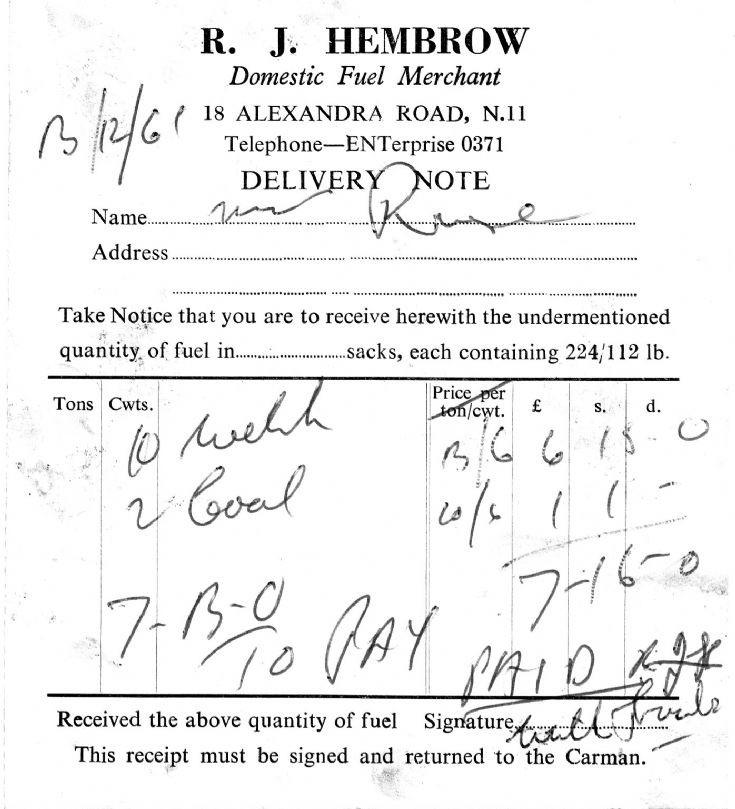 Invoice (R J Hembrow)