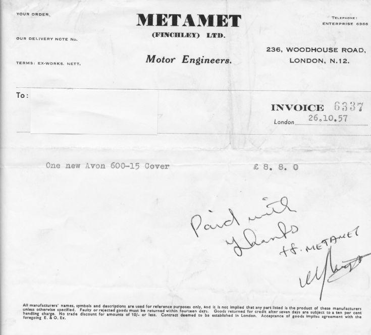 Invoice (Metamet)