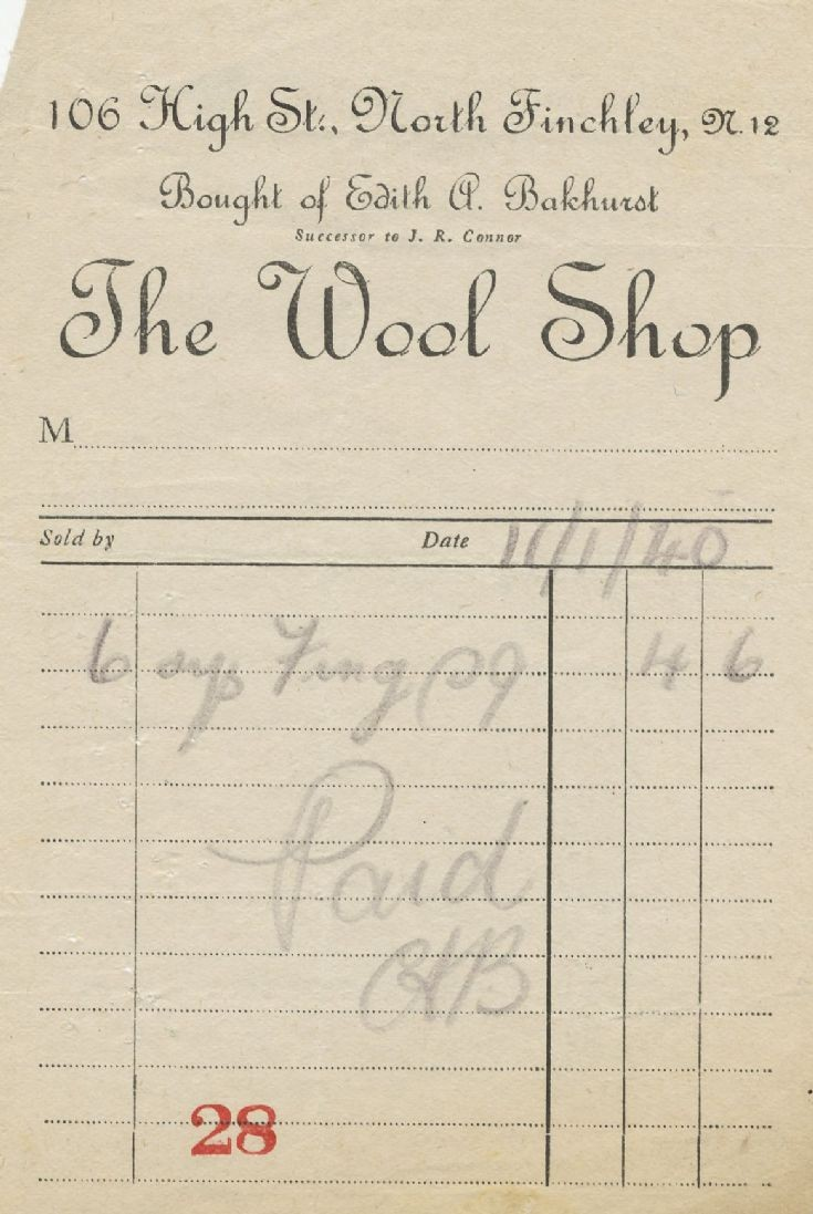 Invoice (The Wool Shop)