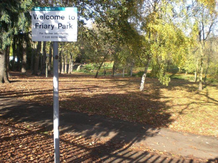 Friary Park. Torrington Park entrance