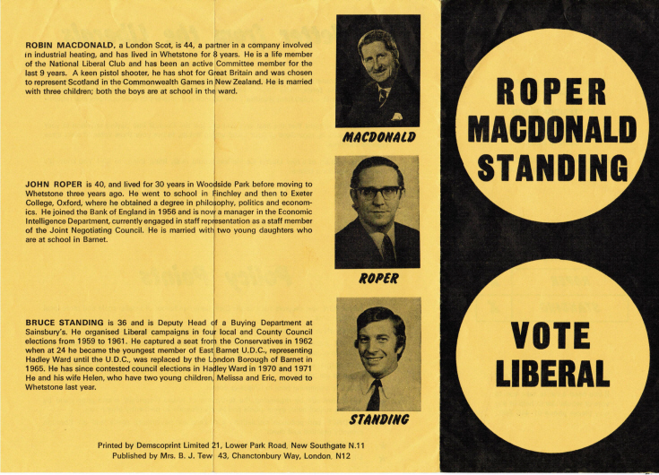Election Flyer (Liberal Party)