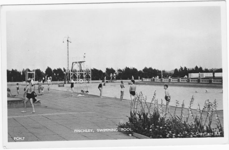 Friern Barnet Photo Archive Finchley Open Air Swimming Pool C1960
