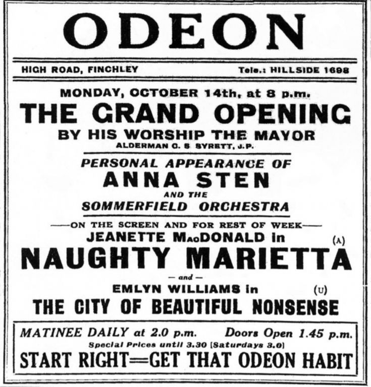 Odeon Cinema, North Finchley