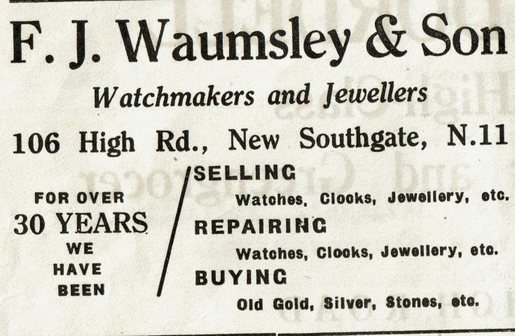 F J Waumsley