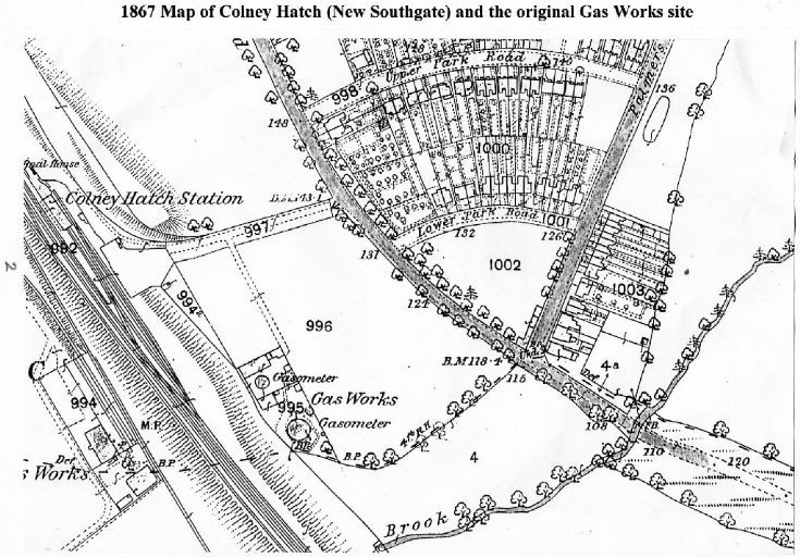 New Southgate (formerly Colney Hatch) in 1867