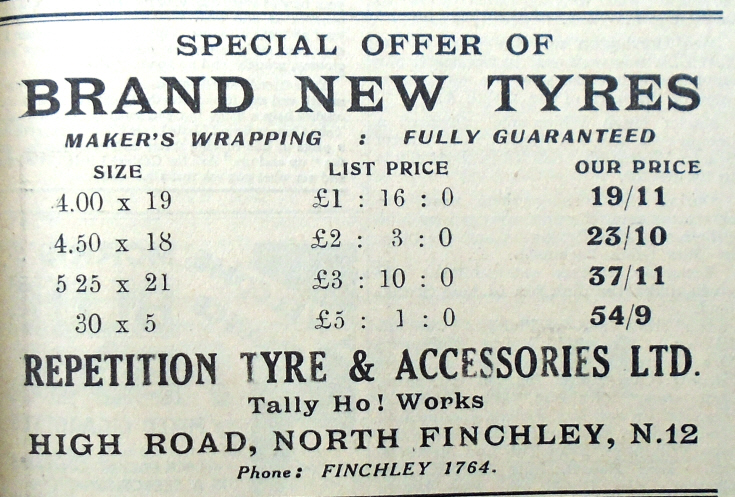 Repetition Tyre & Accessories