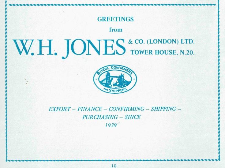 W H Jones