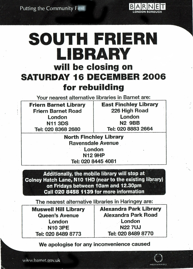 South Friern Librray