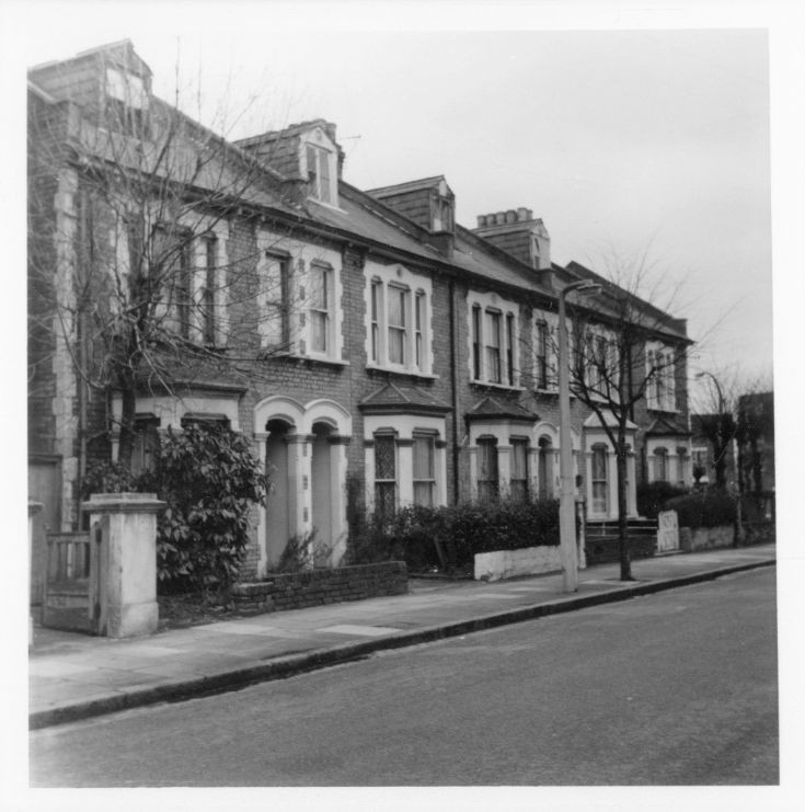 Grove Road, New Southgate. Terrace of houses
